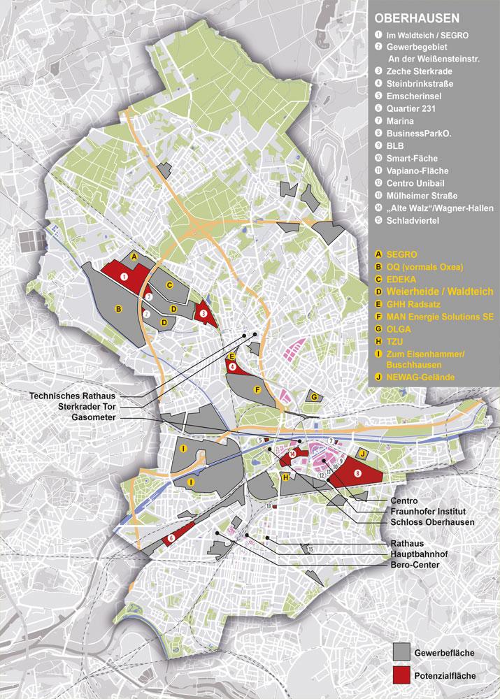 Gewerbe- und Potenzialflächen Oberhausen